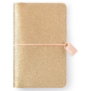 Gold Glitter Traveler's Notebook