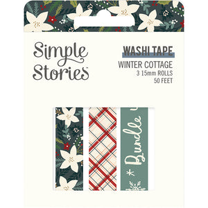 Winter Cottage Washi Tape Trio