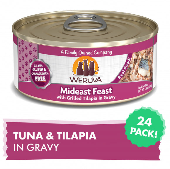 Weruva Mideast Feast With Grilled Tilapia Canned Cat Food