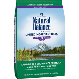 Natural Balance L.I.D. Limited Ingredient Diet Lamb & Brown Rice Large Breed Bites Dry Dog Food