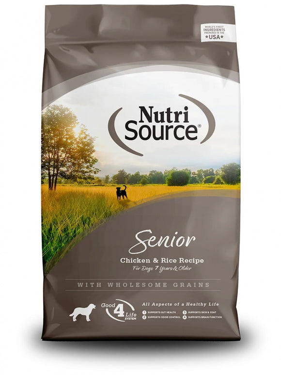NutriSource Senior Chicken & Rice Dry Dog Food