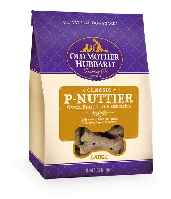 Old Mother Hubbard Crunchy Classic Natural P-Nuttier Large Biscuits Dog Treats