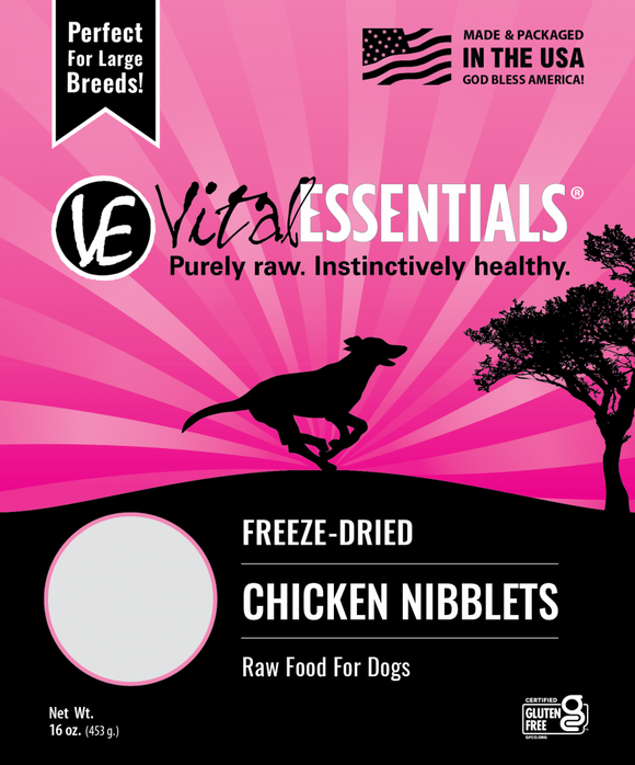 Vital Essentials Chicken Nibblets Freeze Dried Dog Food