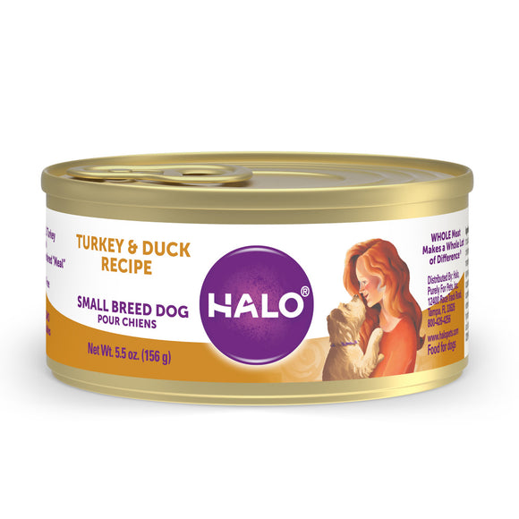Halo Small Breed Grain Free Turkey & Duck Recipe Canned Dog Food