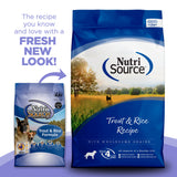 NutriSource Trout & Brown Rice Recipe Dry Dog Food