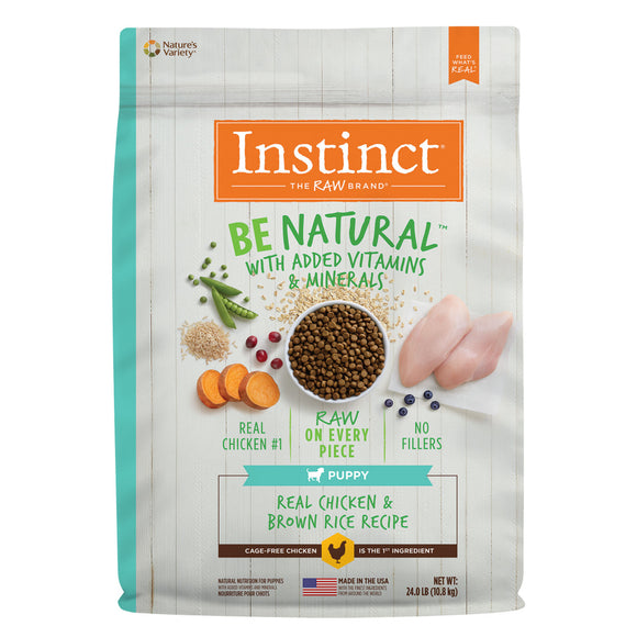 Instinct Be Natural Puppy Chicken & Brown Rice Recipe Dry Dog Food