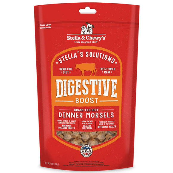 Stella & Chewy's Stella's Solutions Grain Free Digestive Boost Grass Fed Beef Dinner Morsels Freeze-Dried Raw Dog Food