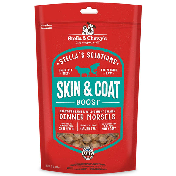 Stella & Chewy's Stella's Solutions Skin & Coat Boost Grass Fed Lamb & Wild Caught Salmon Dinner Morsels Freeze-Dried Raw Dog Food