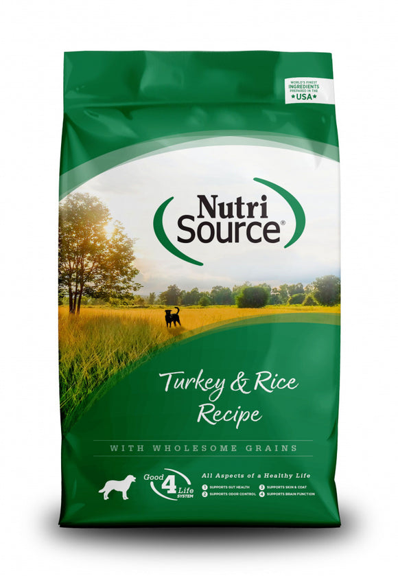 NutriSource Turkey & Rice Recipe Dry Dog Food