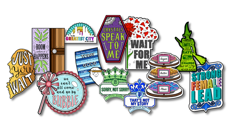 Coloring Broadway Stickers