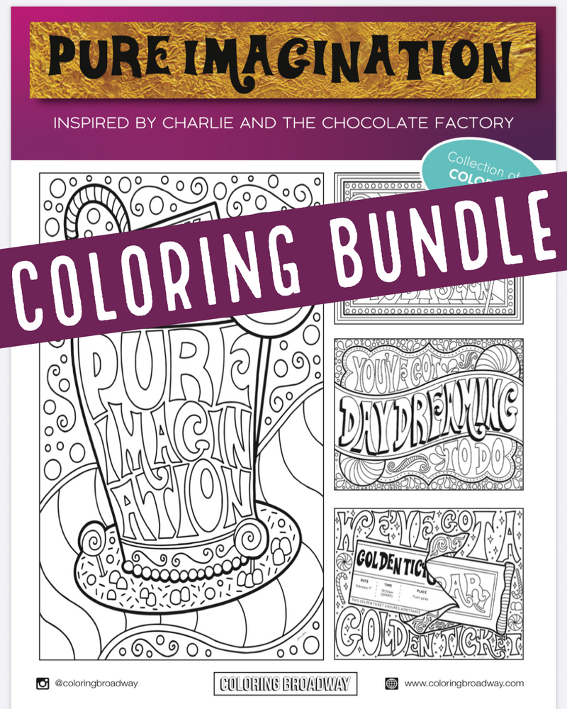 "Charlie & the Chocolate Factory ""Pure Imagination"" - Coloring Bundle"