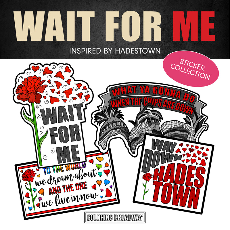 "Hadestown Stickers (Set of 4 - 3"" Die Cut Stickers)"