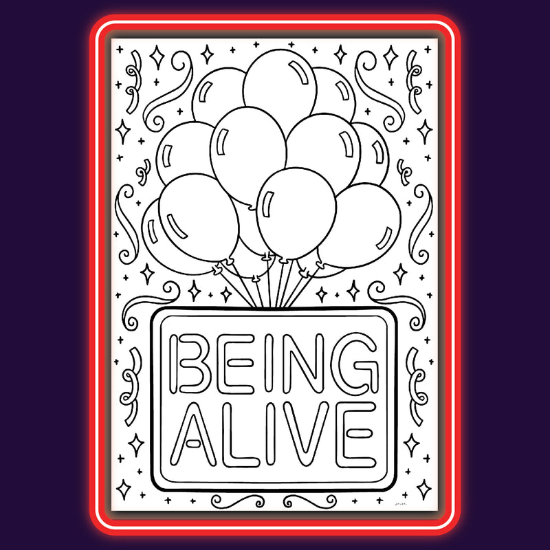 "Company ""Being Alive"" - Coloring Note Cards"