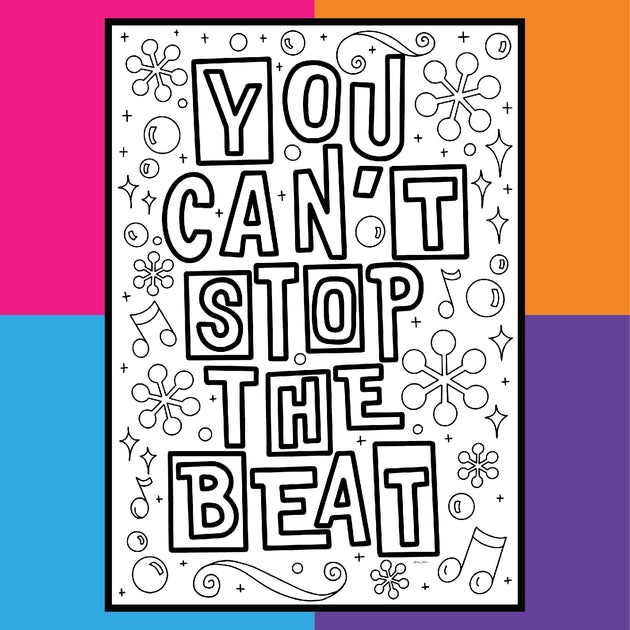 Hairspray You Can T Stop The Beat Coloring Postcards Coloring Broadway
