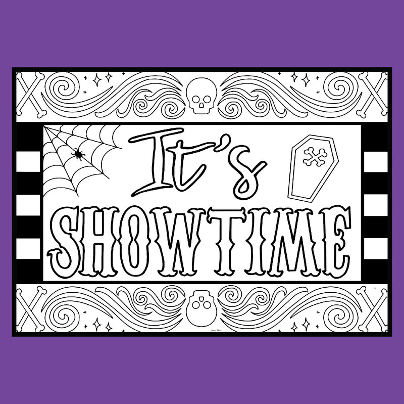 "Beetlejuice ""It's Showtime"" - Coloring Note Cards"