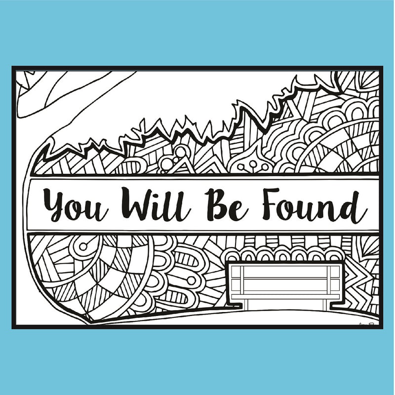 Dear Evan Hansen - Coloring Note Cards
