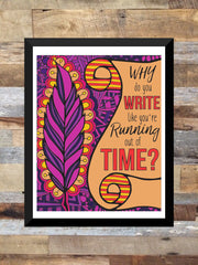 """Why Do You Write"" - Hamilton - Colored Illustration ART PRINT  ( Unframed 8"" x 10"")"