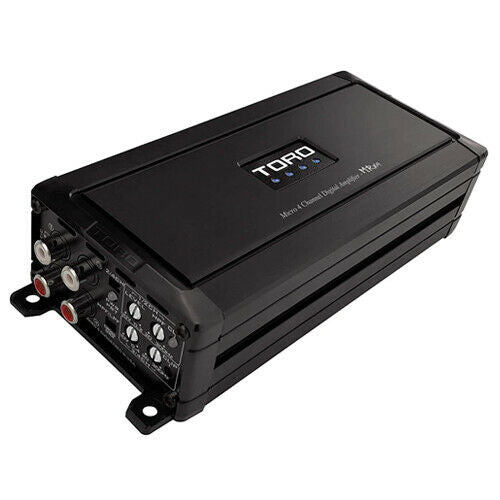 MRx4 | 80 Watts x 4 RMS @ 4Ω / 130 Watts x 4 RMS @ 2 Ohm Micro Sized Multi-Channel Car Amplifier