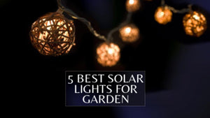 5 BEST SOLAR LIGHTS FOR GARDEN