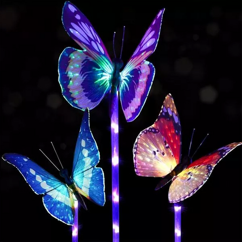 Buy butterfly light sticks for garden.