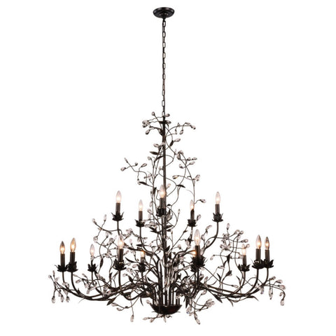 "Arbor Collection Pendant Lamp D:55"" H:47"" Lt:15 Golden Dark Bronze Finish Royal Cut Clear"