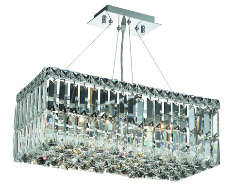 2034 Maxime Collection Hanging Fixture L20in W10in  H7.5in Lt:4 Chrome Finish (Royal Cut Crystals)