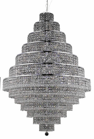 2039 Maxime Collection Chandelier D:42in H:60in Lt:38 Chrome Finish (Elegant Cut Crystals) - llightsdaddy - Elegant Lighting - Chandeliers