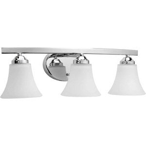 progress lighting p2010-15 transitional three light bath bracket from adorn collection finish, polished chrome