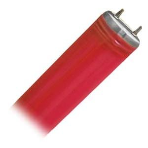 General 24321 - F40/RED P.E.T. Coated Straight T12 Fluorescent Tube Light Bulb - llightsdaddy - General - Fluorescent Tubes