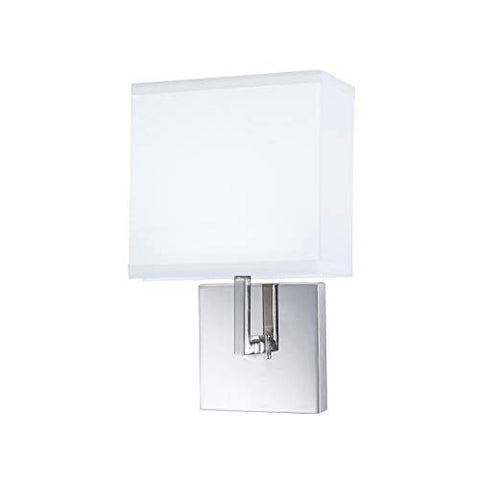 NORWELL 8985-CH-WS 8985-BN-WS Transitional One Light Wall Sconce from Maxwell Collection in Pwt, Nckl, B/S, Slvr.Finish