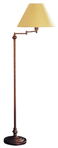 "Cal Lighting BO-314-RU Transitional Swing Arm Floor Lamp, 150-watt, Rust, 12.5"" x 6"" x 21.8"" - llightsdaddy - Cal - Lamp Shades"