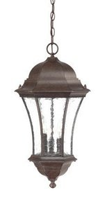 acclaim 3626bc waverly collection 3-light outdoor light fixture hanging lantern, black coral