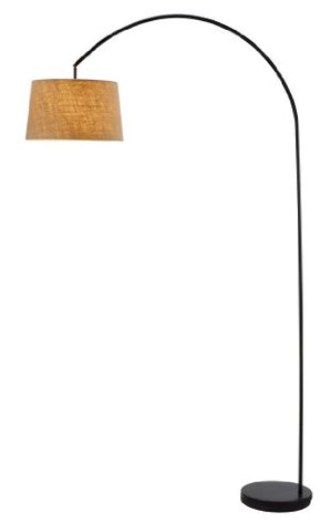 "Adesso 5098-01 Goliath 83"" Arc Lamp, Smart Outlet Compatible, 60.0"" x 15.0"" x 83.0"", Black - llightsdaddy - Adesso - Lamp Shades"