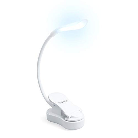 TaoHorse Book Light, Mini Rechargeable 7 LEDs Eye Care Reading Light, Touch Control Dimmable Clip on Light for Reading in Bed, 9 Brightness Levels, 3 Colors Changing, Perfect for Bookworms &  Kids - llightsdaddy - TaoHorse - Book Lights