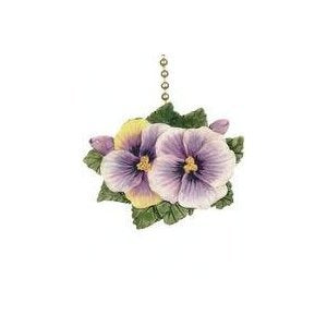 Pansies Flowers Floral Porch Ceiling Ceiling Fan Light Pull - llightsdaddy - Clementine Designs - Pull Chains