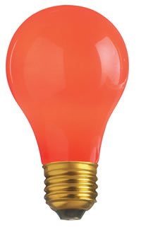 Bulbrite 106760 60 Watt Ceramic Red Dimmable A19 Shaped Medium (E26) Base Incandesc, Ceramic Red - llightsdaddy - Sli - Wall Plates