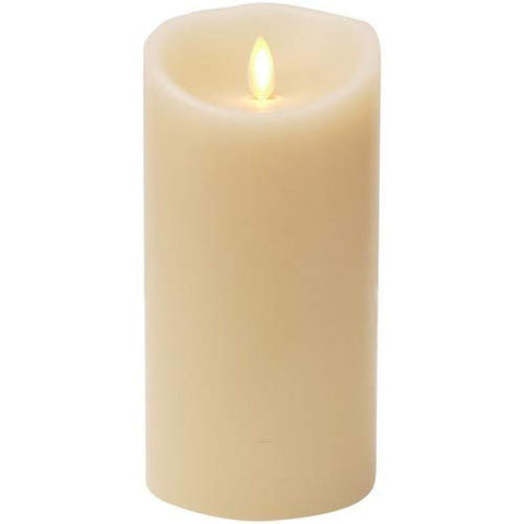 "Remote Included 3.5"" x 5"" Wax Flameless Moving Wick Candle with Timer, Ivory - llightsdaddy - Minetom - Flameless Candles"