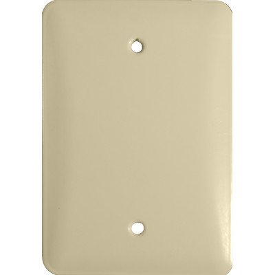Morris 83613 Painted Steel Wall Plate, Princess Midsize, Blank, 1 Gang, Ivory - llightsdaddy - Morris - Wall Plates