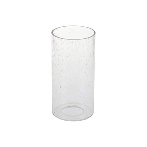 "GoLucky White Cylinder Bubble Glass Shade Accessory Glass Lamp Fixture Shade Replacement Glass Pieces with 1-5/8-Inch Fitter 4""(D)6""(H) Multiple Specifications - llightsdaddy - GoLucky - Fixture Replacement Globes & Shades"