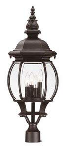 Acclaim 5157BK Chateau Collection 4-Light Post Mount Outdoor Light Fixture, Matte Black - llightsdaddy - Acclaim - Post Lights