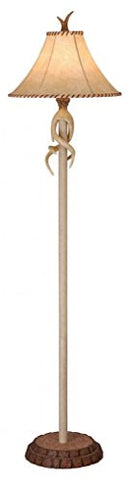 "Vaxcel FL33075NS USA Rustic Lodge 1 Light Rustic Floor Lamp Lighting Fixture, 16"" x 65.5"" x 16"", White, Leather  Vaxcel Lamps llightsdaddy.myshopify.com lightsdaddy"