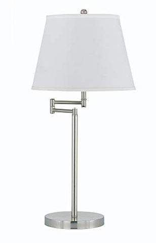 Andros 150W 3-Way Metal Table Lamp in Brushed Steel Finish