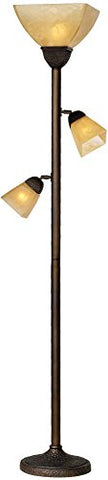 Champagne Glass Torchiere Floor Lamp - llightsdaddy - Franklin Iron Works - Lamp Shades