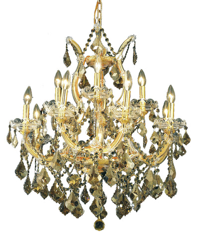 2800 Maria Theresa Collection Chandelier D:27in H:26in Lt:13 Gold Finish (Royal Cut Crystals) - llightsdaddy - Elegant Lighting - Chandeliers