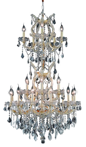 2800 Maria Theresa Collection Chandelier D:30in H:50in Lt:25 Gold Finish (Elegant Cut Crystals)