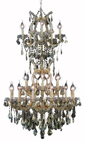 2800 Maria Theresa Collection Chandelier D:30in H:50in Lt:25 Gold Finish (Royal Cut Crystals)