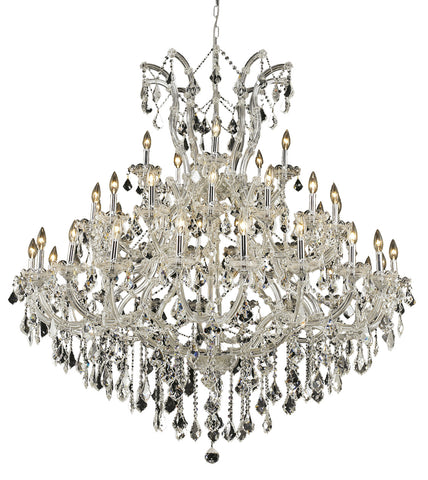 2800 Maria Theresa Collection Chandelier D:52in H:54in Lt:41 Chrome Finish (Elegant Cut Crystals) - llightsdaddy - Elegant Lighting - Pendant Lights