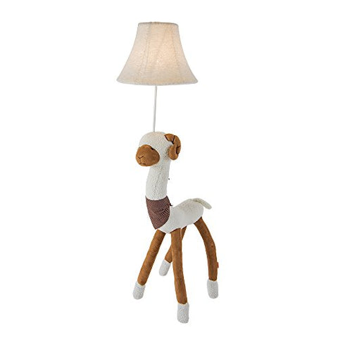 Kids Lamp for Girls, Unicorn Lamp Cute Floor Lamp 48-Inch Decorative Light with Fabric Shade for Nursery Bedroom Living Room(Alpaca) - llightsdaddy - Balie Space - Lamp Shades