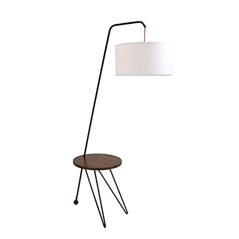Modern Floor Lamp with Table in Walnut and White - llightsdaddy - LumiSource - Outdoor Floor Lamps
