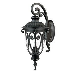 Acclaim 2122BK Naples Collection 3-Light Wall Mount Outdoor Light Fixture Matte Black